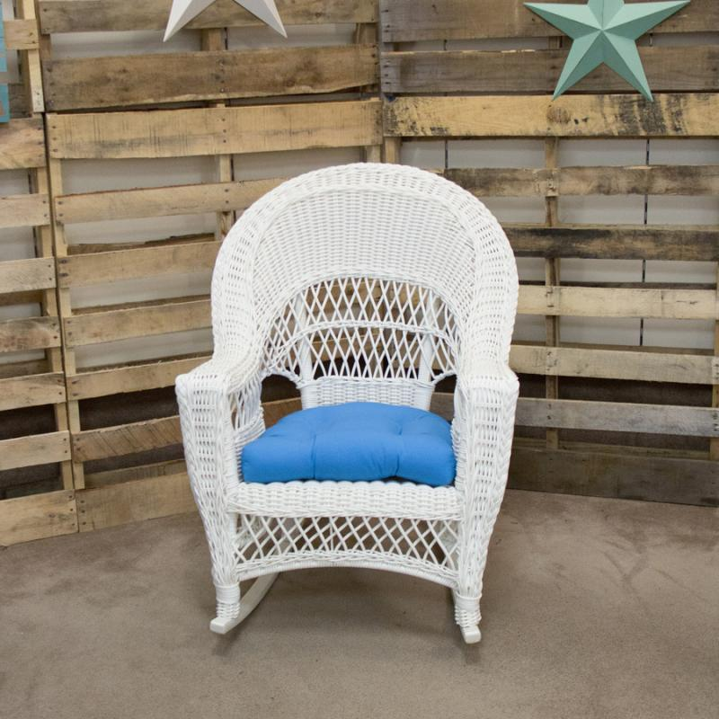 Aruba White High Back Rocker