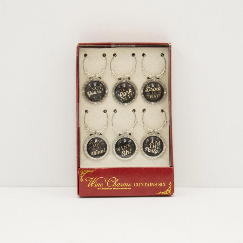 Black & White Wine Charms