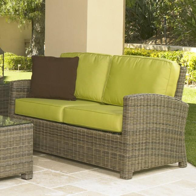 NorthCape Bainbridge Loveseat Resin Wicker Furniture