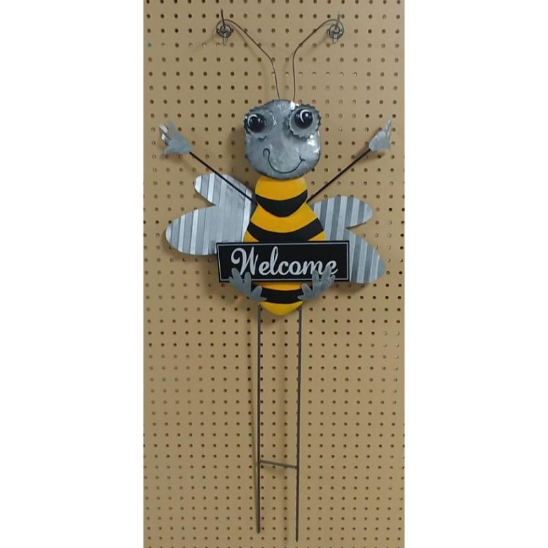 Bee Welcome Garden Stake