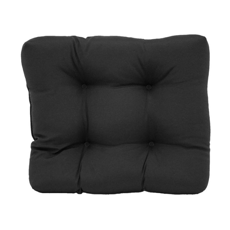 Ottoman Cushion - Fresco Black