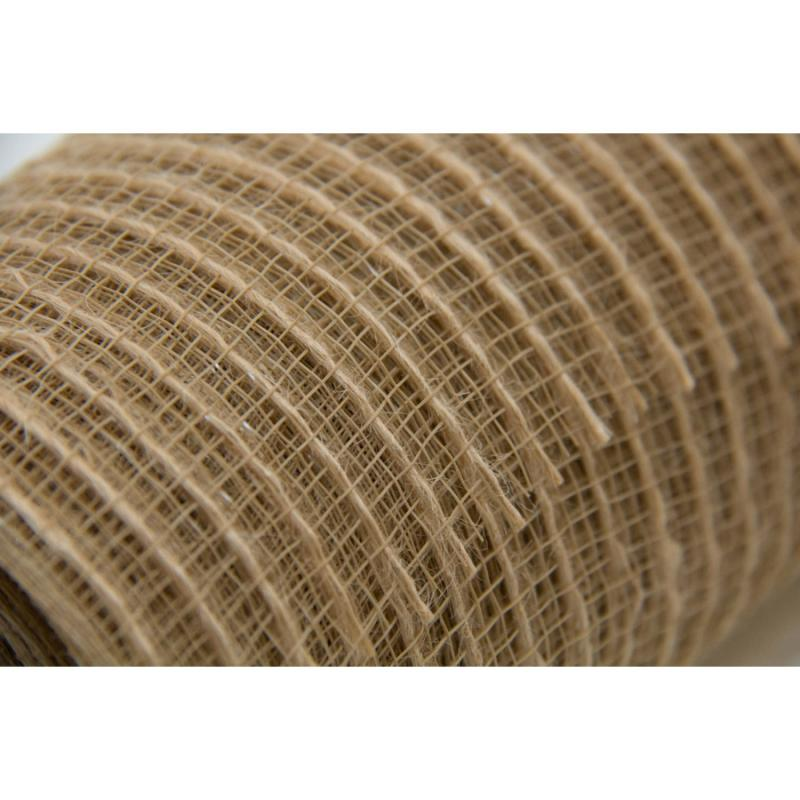 10 in. Natural w/ Jute Deco Mesh Ribbon