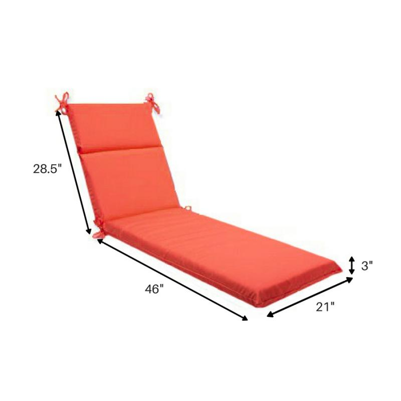 Sunbrella Basic Chaise Cushion w/ Ties