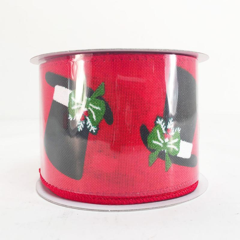 25 x 10y christmas top hat ribbon