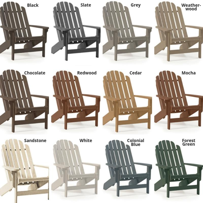 Admirable Fanback Adirondack Chair Breezesta Recycled Poly Furniture Download Free Architecture Designs Embacsunscenecom
