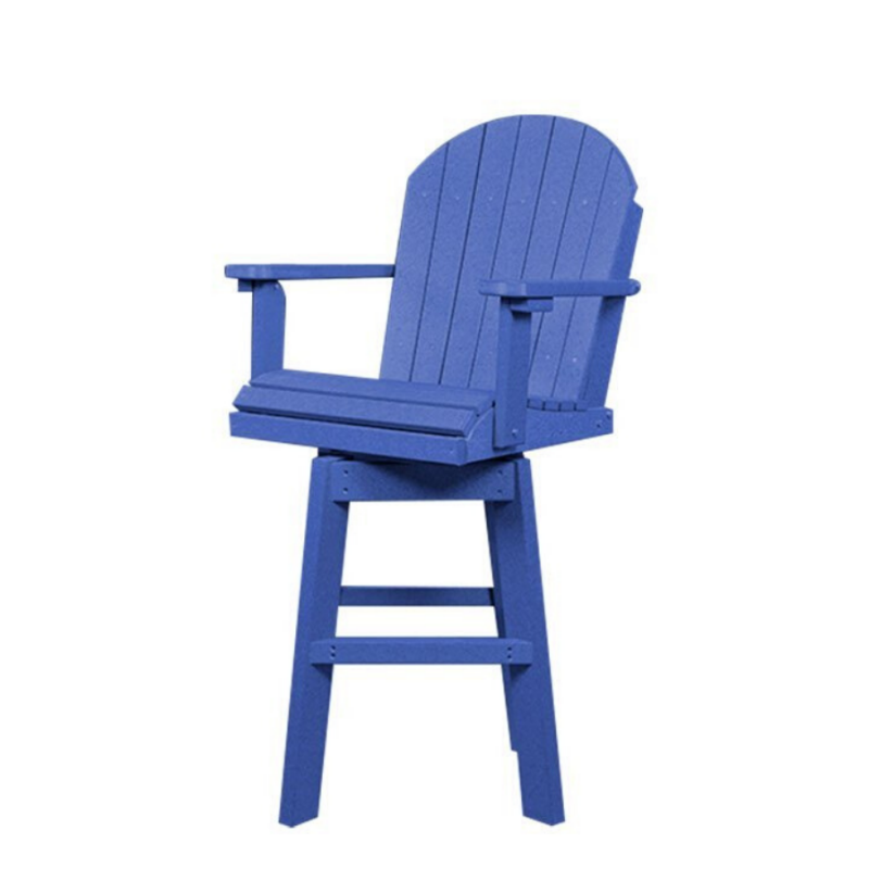 Counter Height Swivel Adirondack Chair - Poly Furniture USA