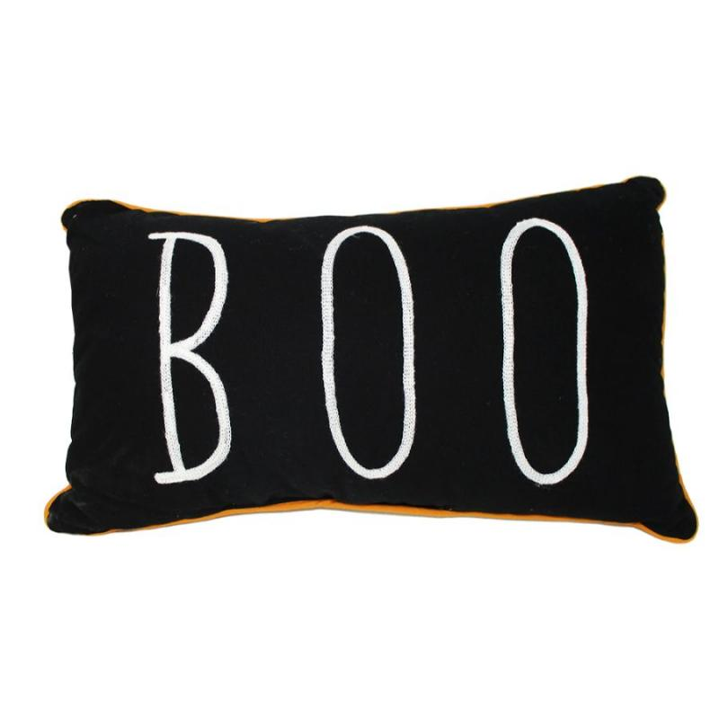 Boo / Blessed Reversible Accent Throw Pillow