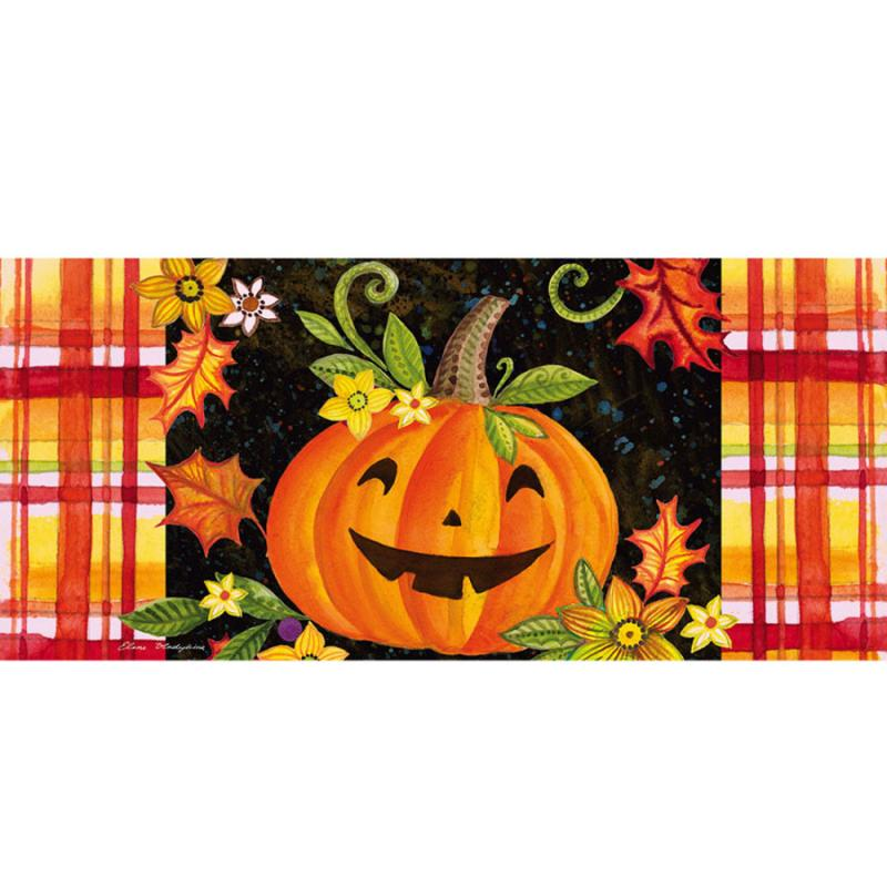 Happy Jack-O-Lantern Sassafras Switch Mat