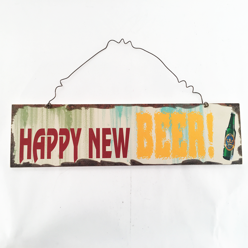 Youngs 22312 Happy New Beer Wooden Plaque