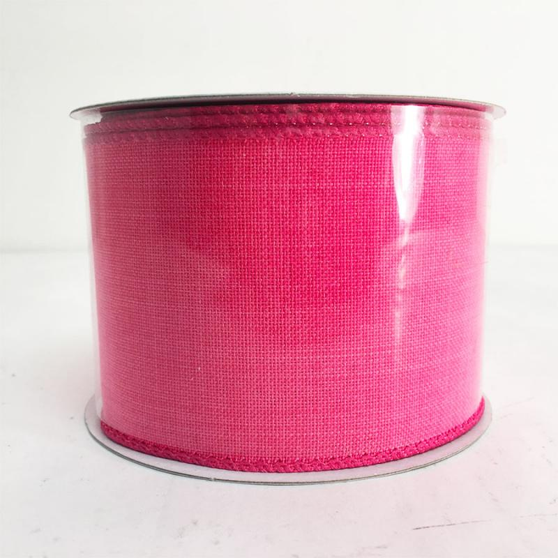 "2.5""X10Y Hot Pink Canvas Ribbon"