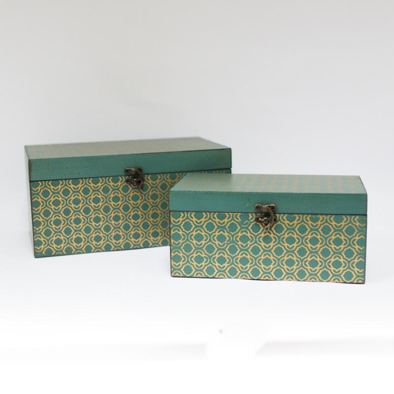 Jade and Gold Decorative Box - Large