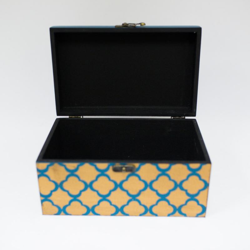 Gold and Teal Decorative Box - Large