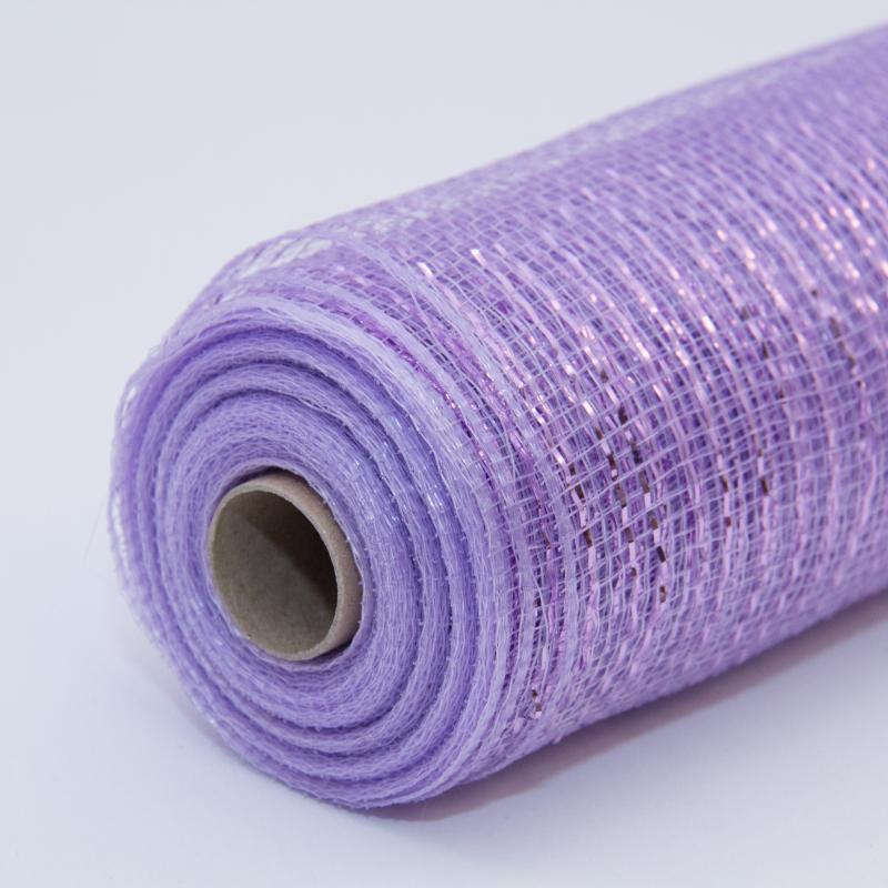 21 in. Metallic Lavendar Deco Mesh Ribbon