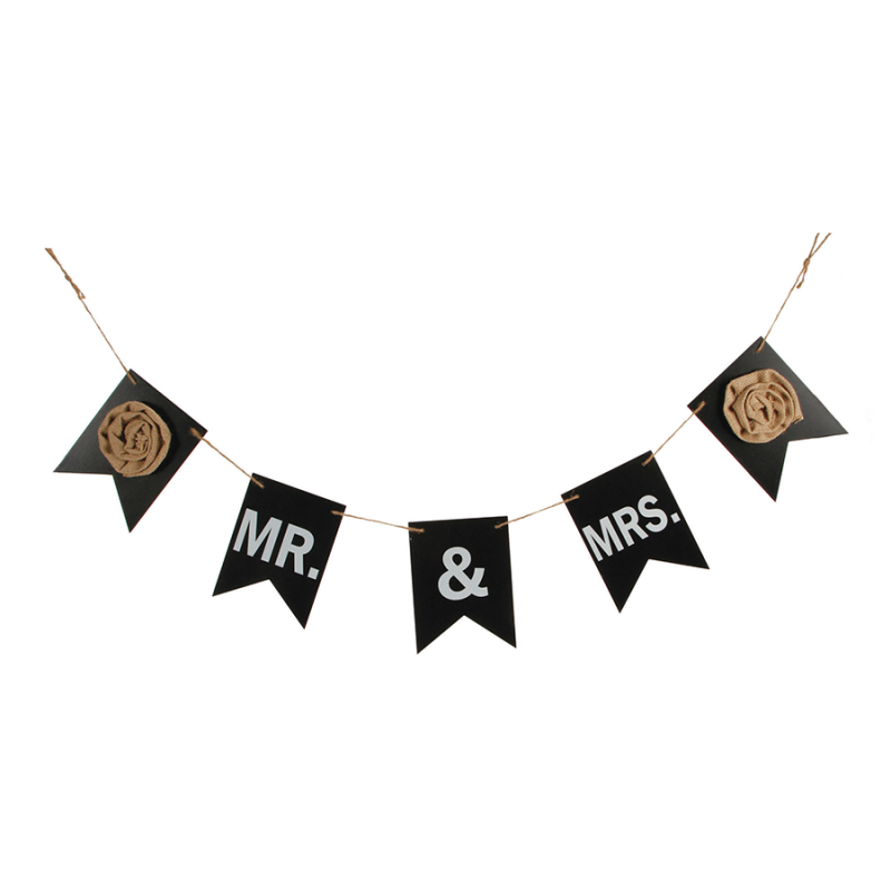 Darice 5915-067 Wedding Garland - Mr & Mrs - Chalkboard - 43 inches