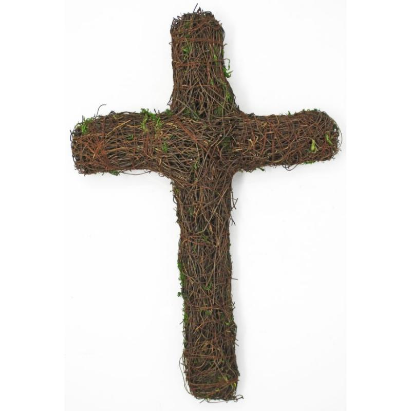 Grapevine Moss Cross