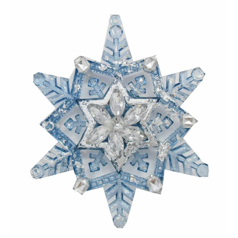 Jeweled Snowflake Christmas Ornament