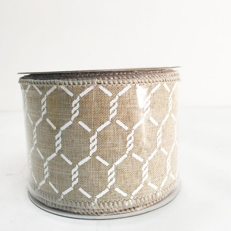 "2.5"" x 10Y Natural Linen Chicken Wire"