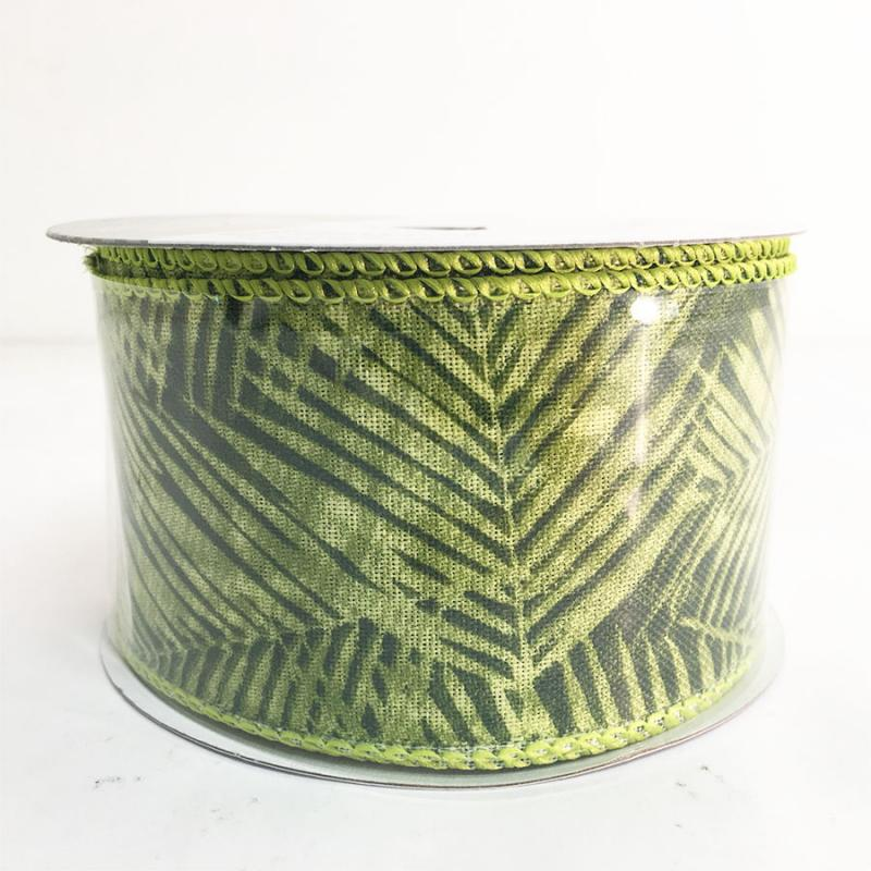 "2.5"" x 10Y Palm Tree Pattern Ribbon"