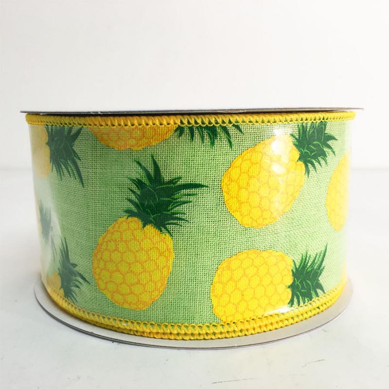 "2.5"" x 10YD Pineapple Ribbon"