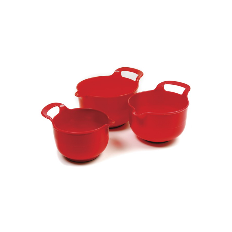 NorPro 1020 Red Plastic Mixing Bowls