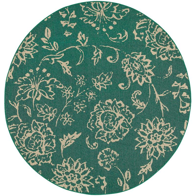 Seaside 4922L Round Outdoor Rug