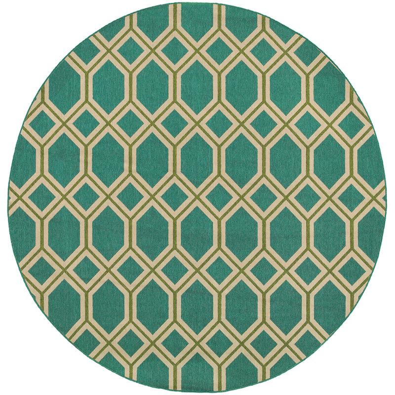 Seaside 6660L Round Outdoor Rug