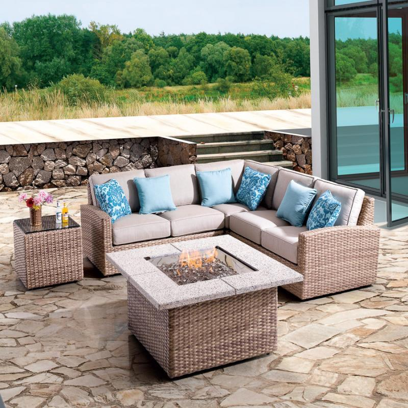 Biscayne Armless Chair Section - Fieldstone