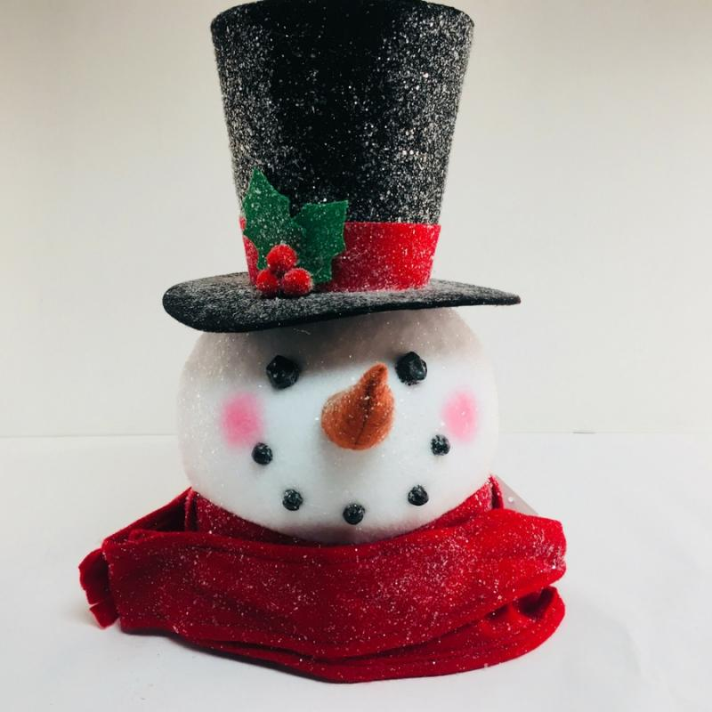 jwm collection 17344 155 snowman head christmas tree topper