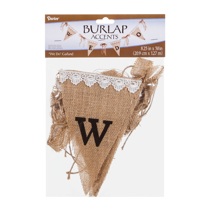 Darice 5915-068 Wedding Garland - We Do - Burlap - 50 inches