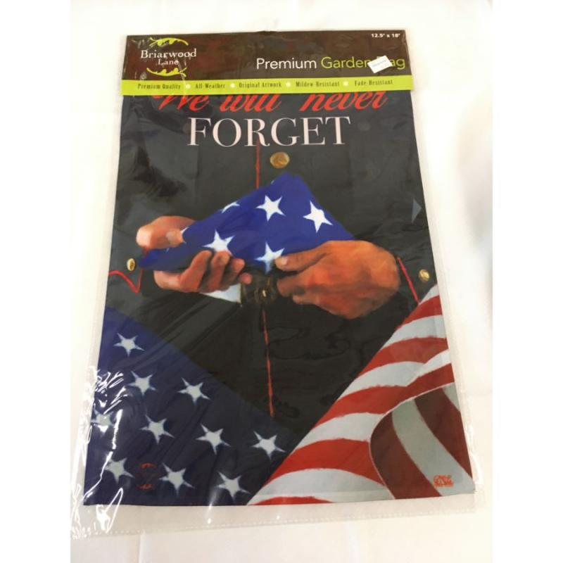 """Never Forget"" Garden Flag"