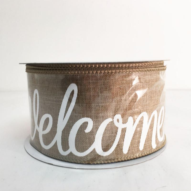 "2.5"" x 10YD Welcome Ribbon"